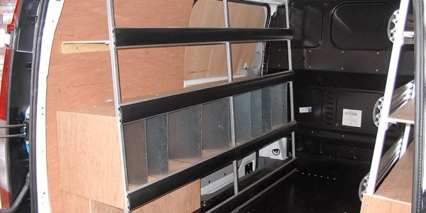 Customer specified shelving and crossrails for Martindales
